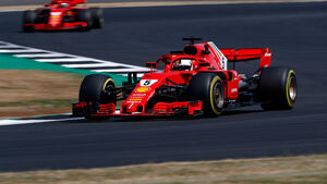 Sebastian Vettel - Ferrari - GP England 2018 - Silverstone - Freitag - Training