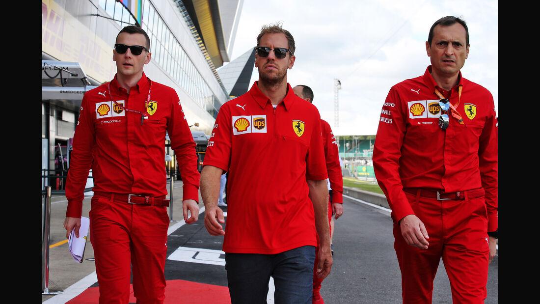 Sebastian Vettel - Ferrari - GP England - Silverstone - Donnerstag - 11.07.2019