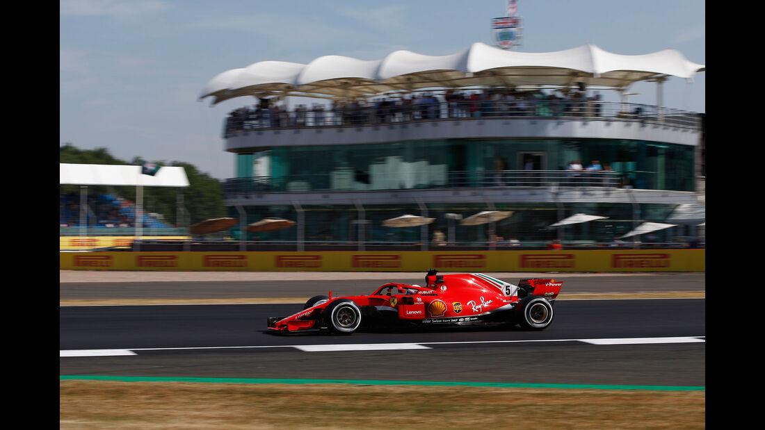 Sebastian Vettel - Ferrari - GP England - Silverstone - Formel 1 - Freitag - 6.7.2018