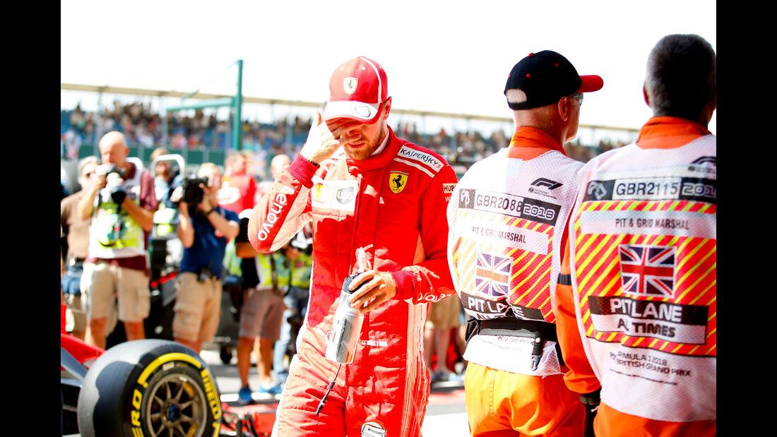 Sebastian Vettel - Ferrari - GP England - Silverstone - Formel 1 - Samstag - 7.7.2018