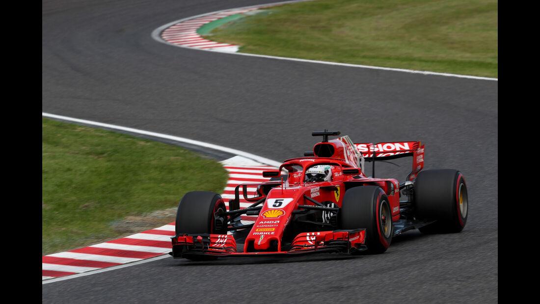Sebastian Vettel - Ferrari - GP Japan - Suzuka - Formel 1 - Samstag - 6.10.2018
