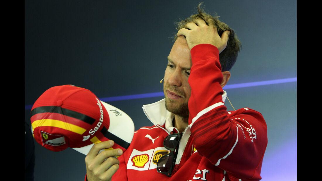 Sebastian Vettel - Ferrari - GP Mexiko - Formel 1 - Donnerstag - 26.10.2017