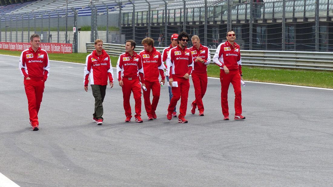 Sebastian Vettel - Ferrari - GP Österreich - Formel 1 - Donnerstag - 18.6.2015