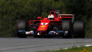 Sebastian Vettel - Ferrari - GP Österreich - Spielberg - Formel 1 - Freitag - 7.7.2017