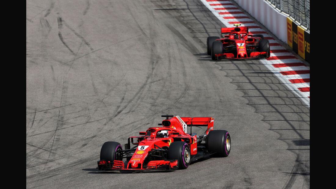 Sebastian Vettel - Ferrari - GP Russland 2018 - Sotschi - Rennen