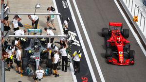Sebastian Vettel - Ferrari - GP Russland 2018 - Training