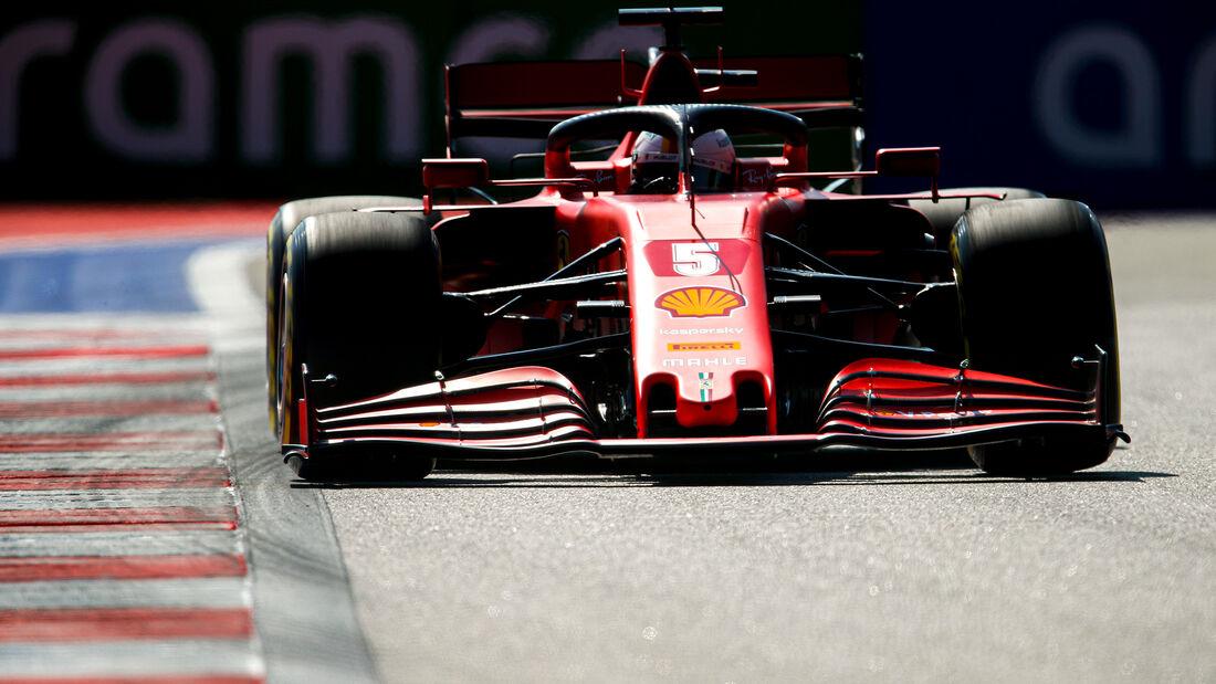Sebastian Vettel - Ferrari - GP Russland - Sotschi - Formel 1 - 2020