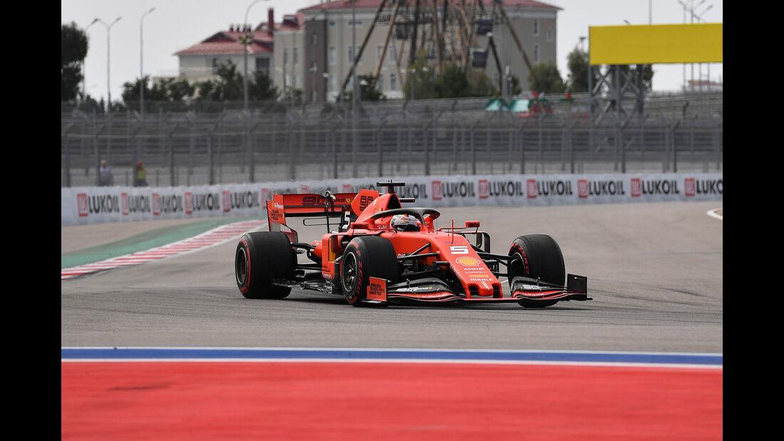Sebastian Vettel - Ferrari - GP Russland - Sotschi - Formel 1 - Freitag - 27.9.2019