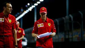 Sebastian Vettel - Ferrari - GP Singapur - Formel 1 - Donnerstag - 19.9.2019