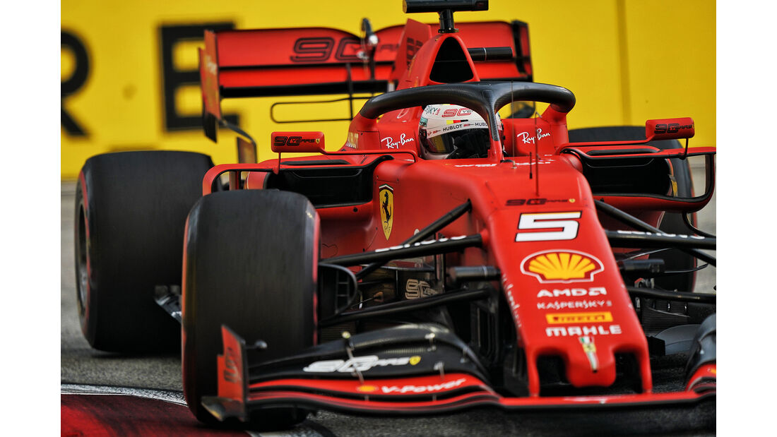 Sebastian Vettel - Ferrari - GP Singapur - Formel 1 - Freitag - 20.9.2019