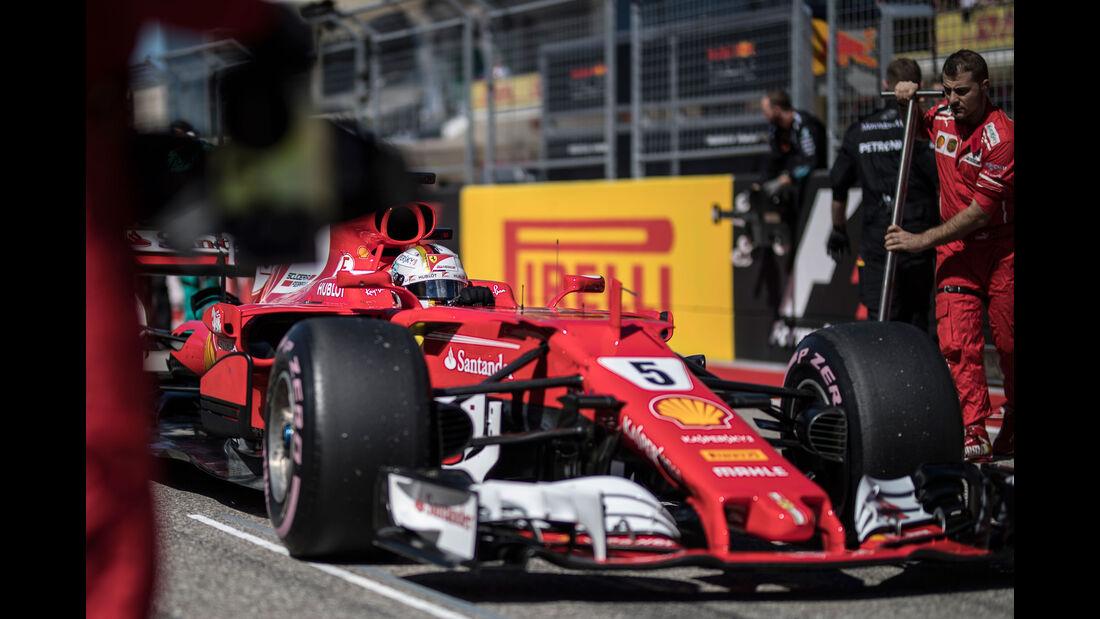 Sebastian Vettel - Ferrari - GP USA 2017 - Rennen