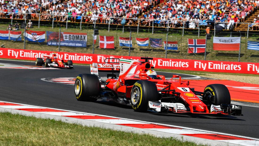 Sebastian Vettel - Ferrari - GP Ungarn 2017 - Budapest
