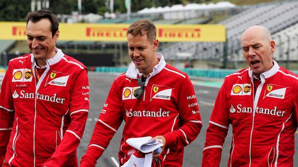 Sebastian Vettel - Ferrari - GP Ungarn 2017 - Budapest - Formel 1 - Donnerstag - 27.7.2017