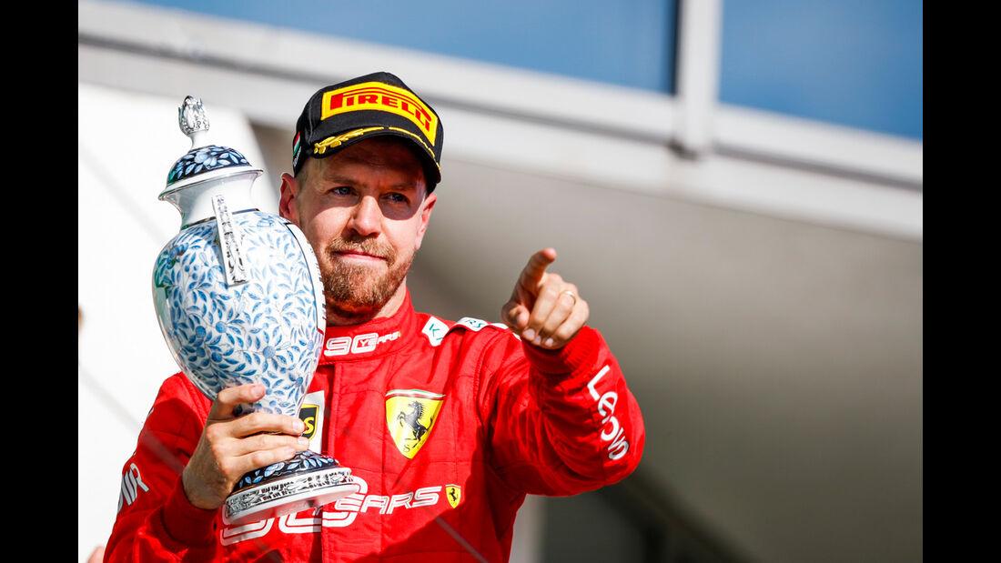 Sebastian Vettel - Ferrari - GP Ungarn 2019 - Budapest - Rennen