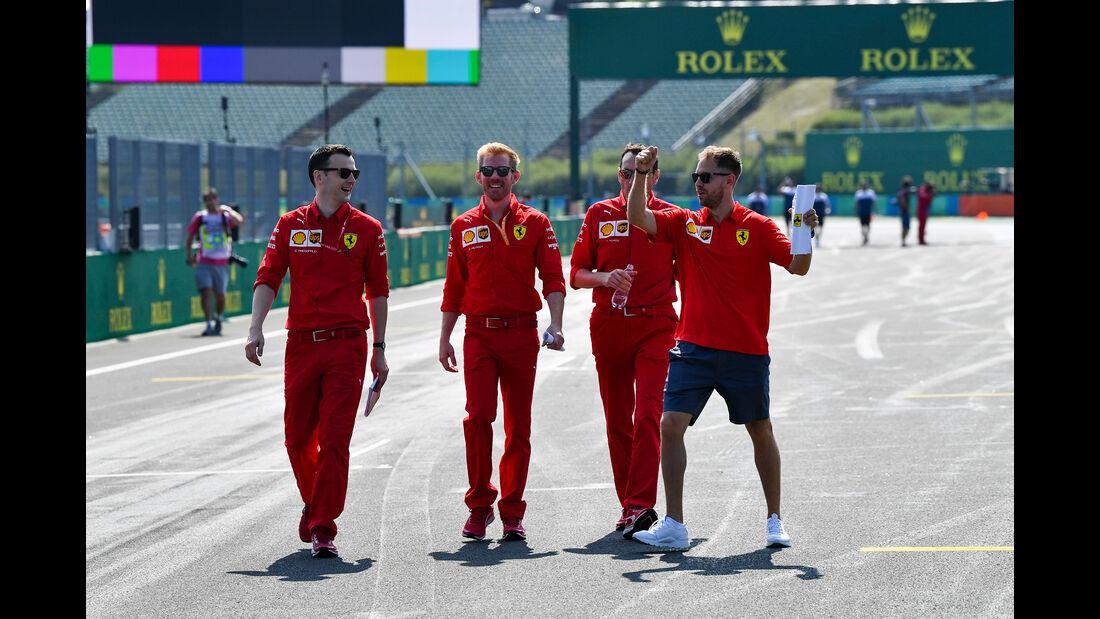 Sebastian Vettel - Ferrari - GP Ungarn - Budapest - Formel 1 - Donnerstag - 1.08.2019