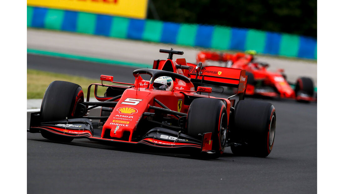 Sebastian Vettel - Ferrari - GP Ungarn - Budapest - Formel 1 - Freitag - 1.8.2019