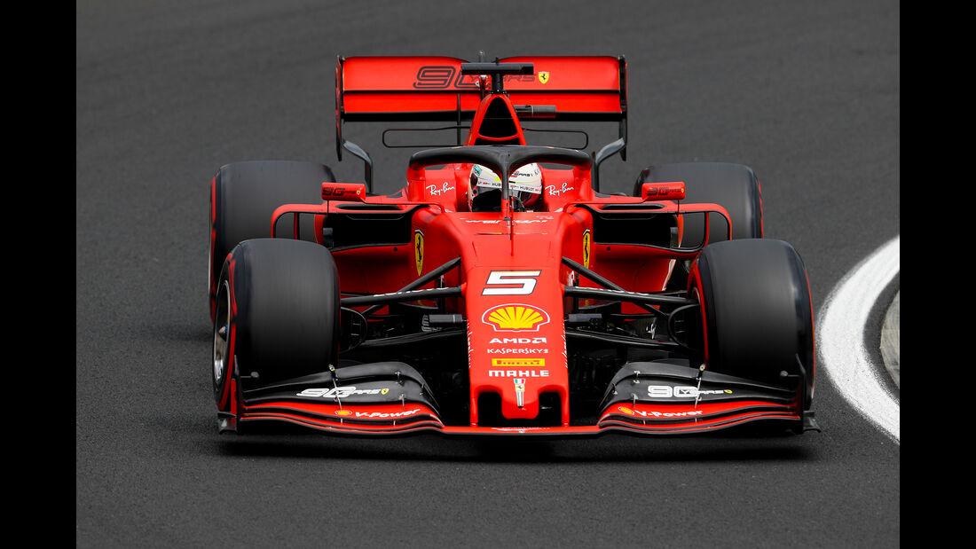 Sebastian Vettel - Ferrari - GP Ungarn - Budapest - Formel 1 - Freitag - 2.8.2019