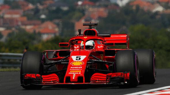 Sebastian Vettel - Ferrari - GP Ungarn - Budapest - Formel 1 - Freitag - 27.7.2018