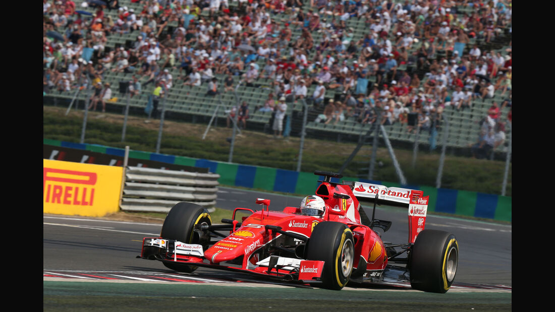 Sebastian Vettel - Ferrari - GP Ungarn - Budapest - Qualifying - Samstag - 25.7.2015