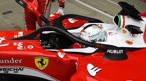 Sebastian Vettel - Ferrari - Halo 2 - Heiligenschein - Cockpitschutz - GP England 2016