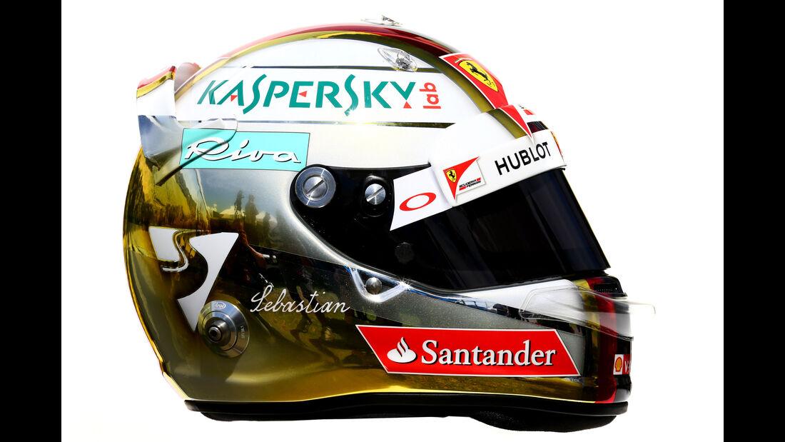 Sebastian Vettel - Ferrari - Helm - Formel 1 - 2016