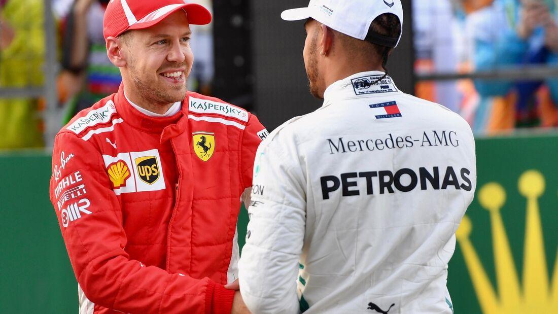 Sebastian Vettel - Ferrari - Lewis Hamilton - Mercedes - Formel 1 - GP Aserbaidschan - 28. April 2018