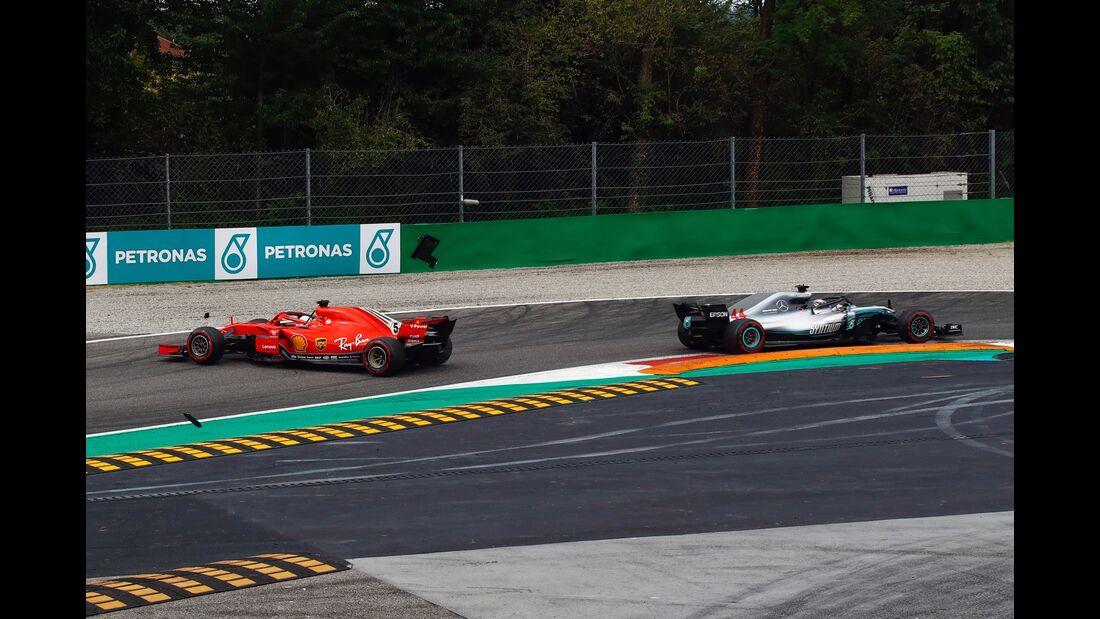 Sebastian Vettel - Ferrari - Lewis Hamilton - Mercedes - Formel 1 - GP Italien - 02. September 2018