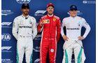 Sebastian Vettel - Ferrari - Lewis Hamilton - Valtteri Bottas - Mercedes - Formel 1 - GP Aserbaidschan - 28. April 2018