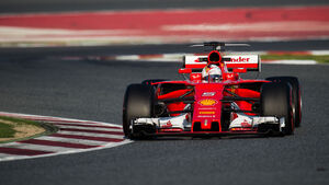 Sebastian Vettel - Ferrari - Testfahrten - Barcelona - 10. März 2017
