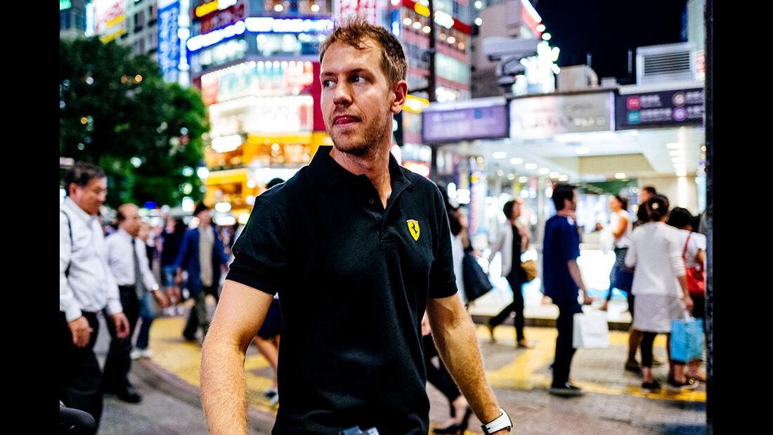 Sebastian Vettel - Ferrari - Tokio - GP Japan 2016