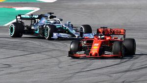 Sebastian Vettel - Ferrari & Valtteri Bottas - Mercedes - F1-Test - Barcelona - 2019