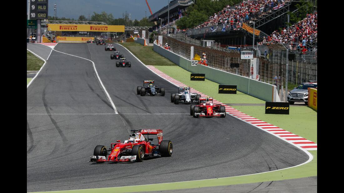 Sebastian Vettel - Ferrrari - GP Spanien 2016 - Barcelona - Sonntag - 15.5.2016