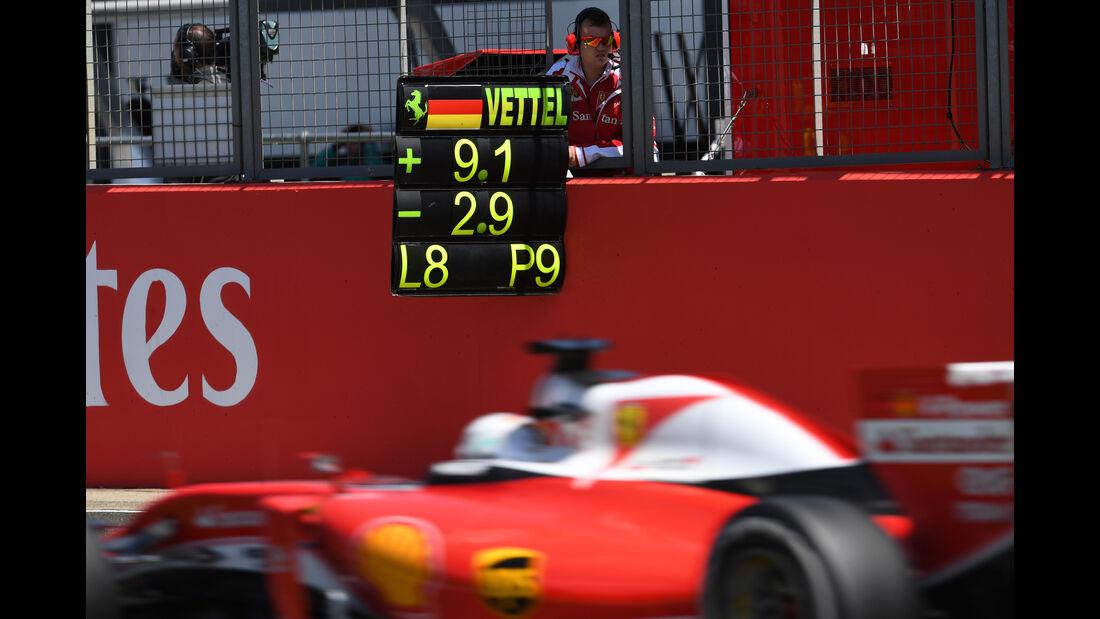 Sebastian Vettel - Formel 1 - GP England 2016