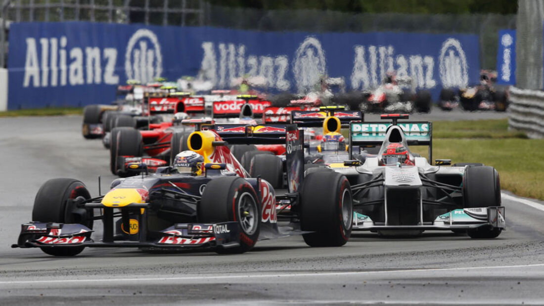 Sebastian Vettel GP Kanada 2011 Rennen