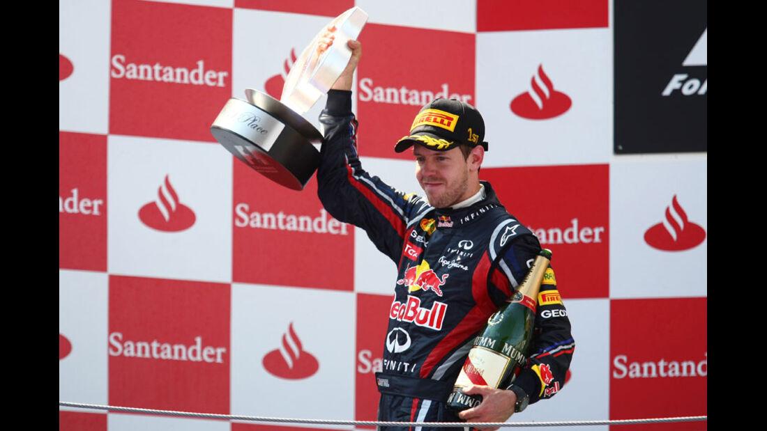 Sebastian Vettel GP Spanien 2011 Rennen
