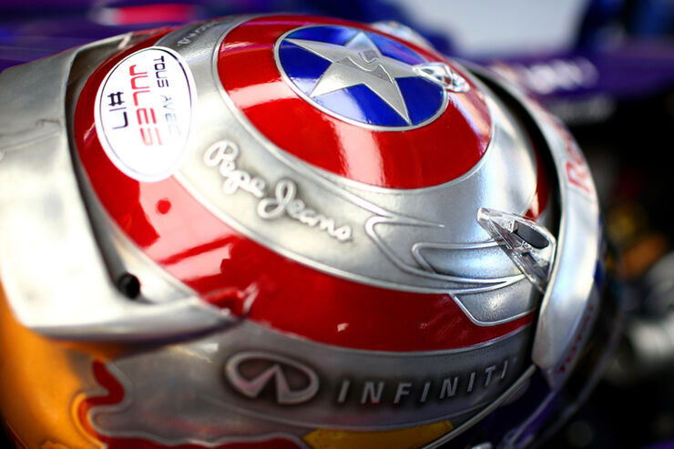 Sebastian Vettel - Helm - Formel 1 - GP USA - 01. November 2014