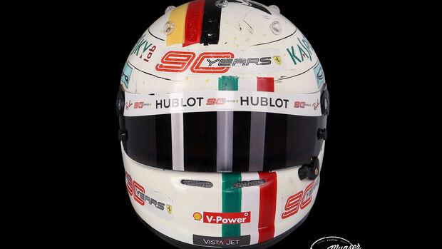 Sebastian Vettel - Helm - GP Italien 2019