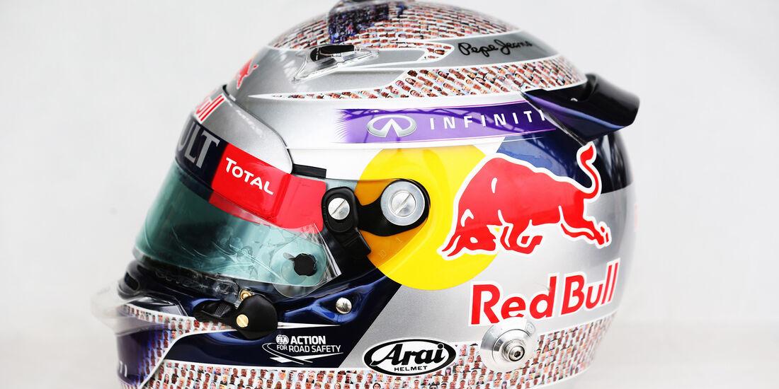 Sebastian Vettel Helmdsign - Formel 1 - GP England - 29. Juni 2013