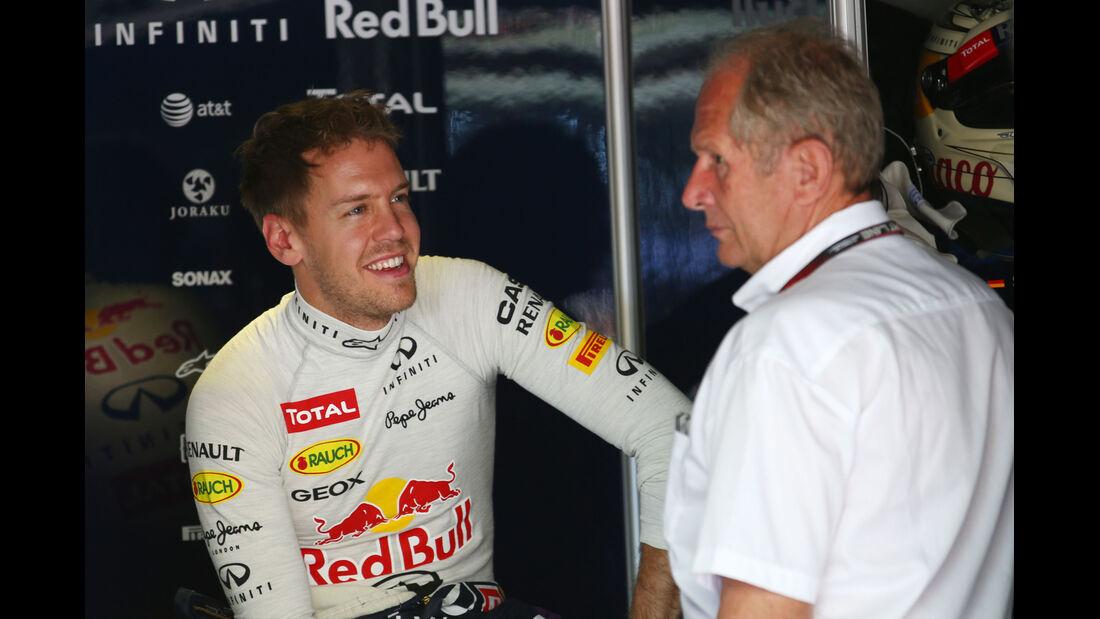 Sebastian Vettel & Helmut Marko - Red Bull - Formel 1 - GP Monaco - 23. Mai 2013