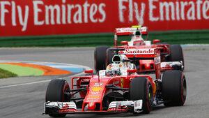 Sebastian Vettel - Kimi Räikkönen - Ferrari - Formel 1 - GP Deutschland - 30. Juli 2016