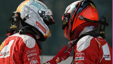 Sebastian Vettel - Kimi Räikkönen - Ferrari - GP China 2016 - Shanghai - Rennen