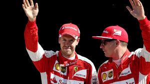 Sebastian Vettel - Kimi Räikkönen - Ferrari - GP Italien 2015 - Qualifying
