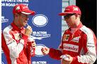 Sebastian Vettel - Kimi Räikkönen - Ferrari - GP Italien - Monza - Qualifying - 5.9.2015