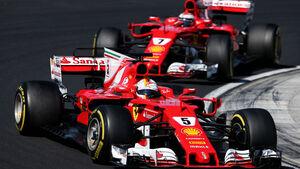 Sebastian Vettel - Kimi Räikkönen - Ferrari - GP Ungarn 2017 - Rennen