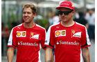 Sebastian Vettel - Kimi Räikkönen  - Formel 1 - GP Brasilien- 13. November 2015