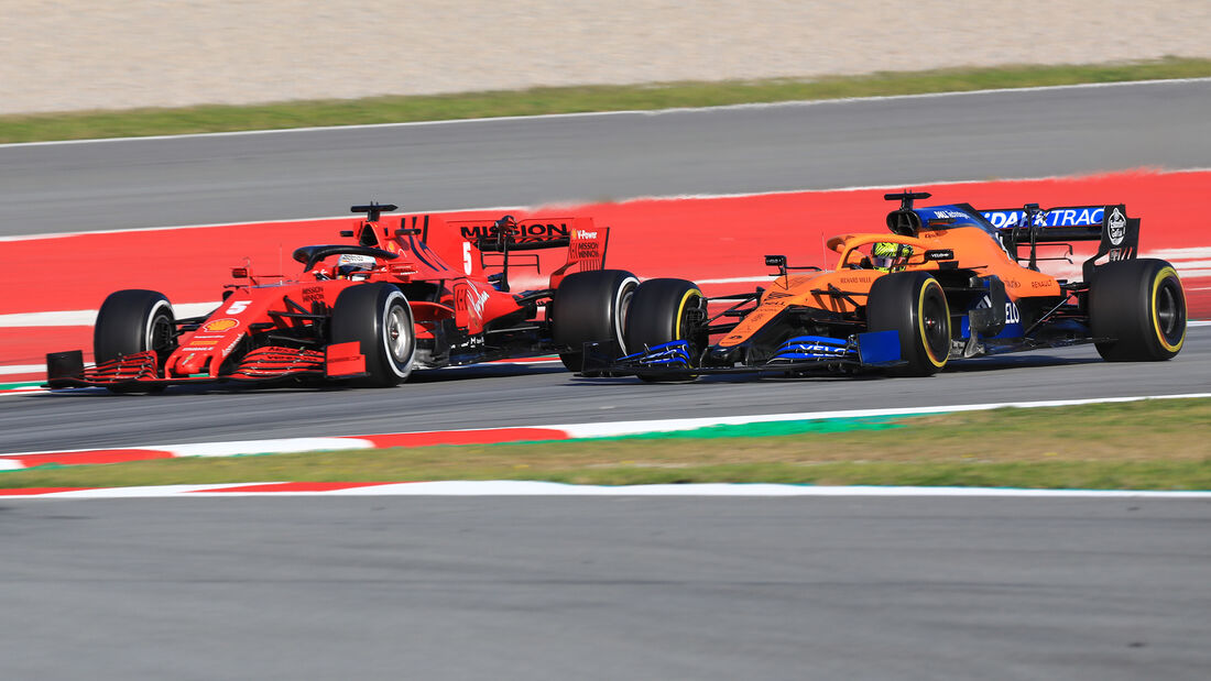 Sebastian Vettel & Lando Norris - F1-Test - Barcelona 2020