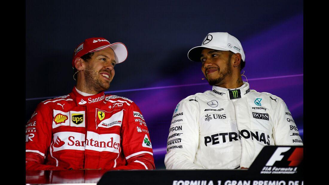 Sebastian Vettel - Lewis Hamilton - Formel 1 - GP Spanien - 13. Mai 2017