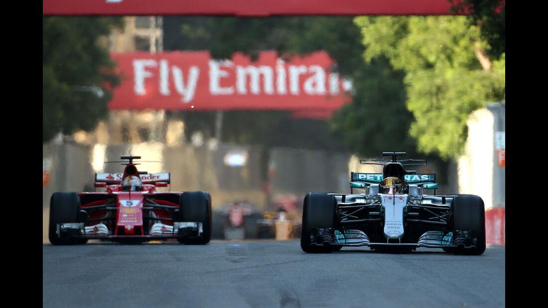 Sebastian Vettel - Lewis Hamilton - GP Aserbaidschan 2017 - Baku