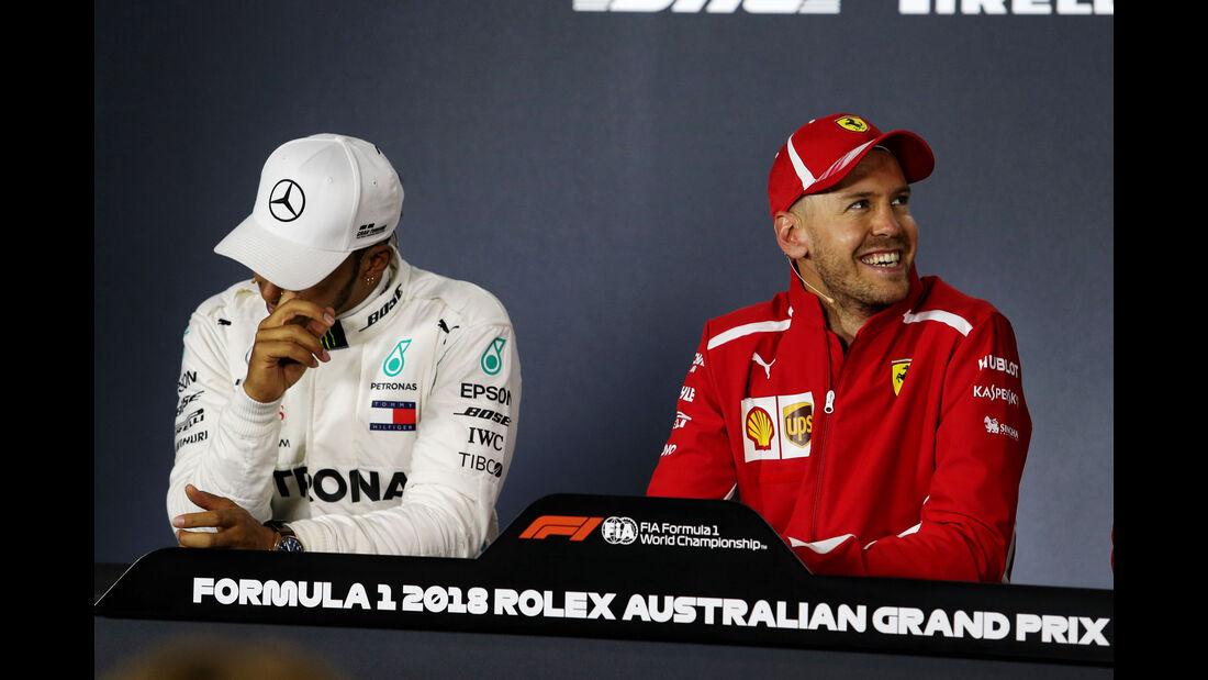 Sebastian Vettel - Lewis Hamilton - GP Australien 2018 - Melbourne - Rennen