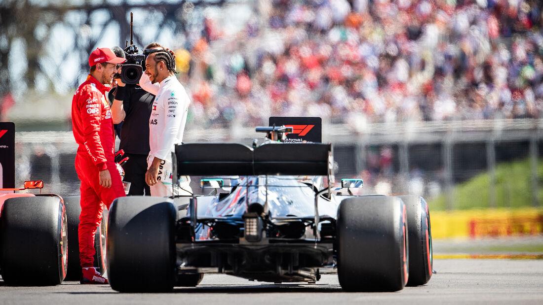 Sebastian Vettel - Lewis Hamilton - GP Kanada 2019